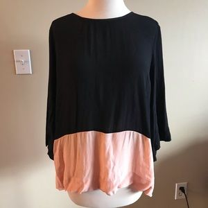 Black and Pink Anthropologie Top